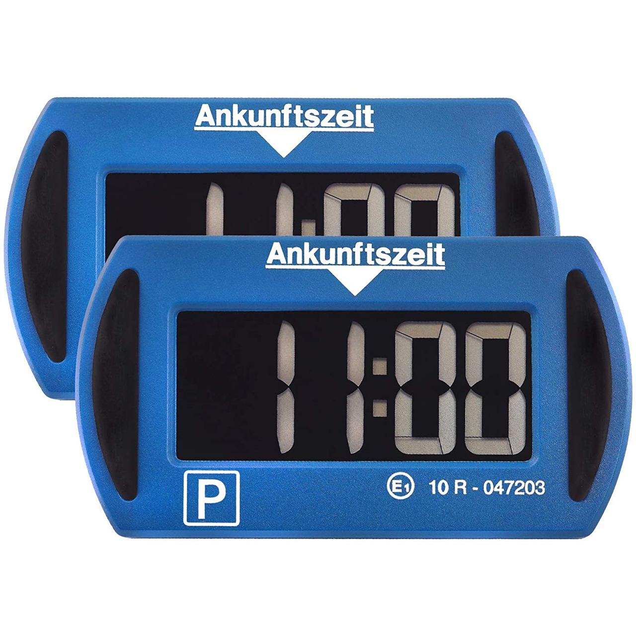 Needit 2er-Spar-Set Digitale Parkscheibe PARK MINI- automatische Parkzeiteinstellung- blau
