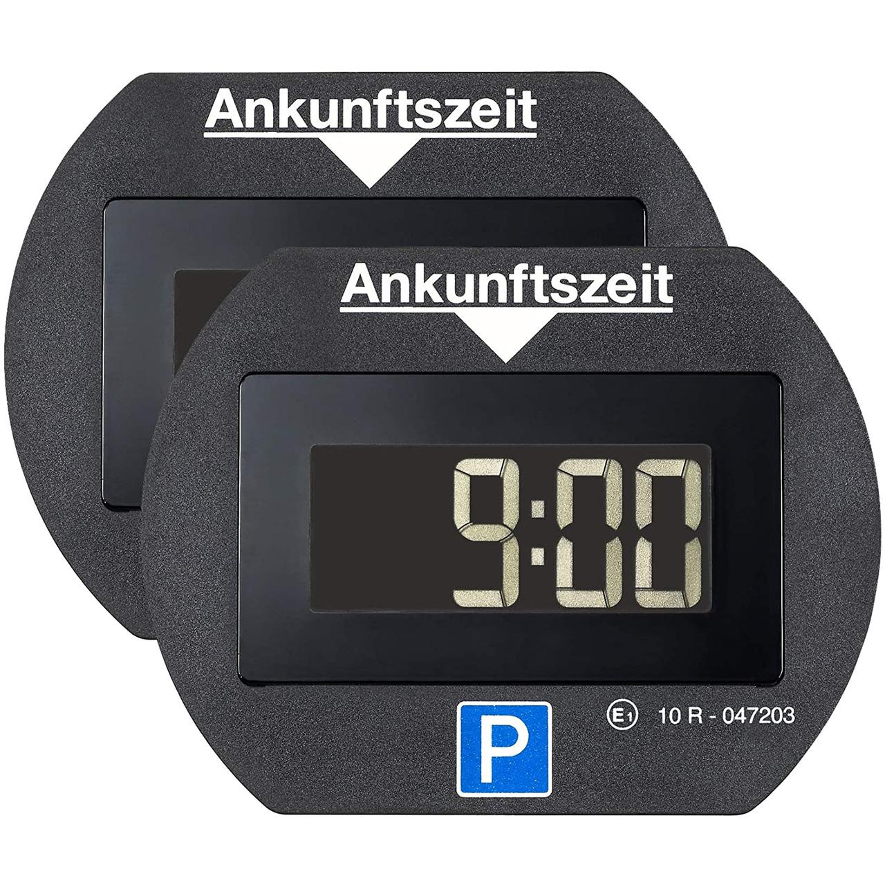 Needit 2er-Spar-Set Digitale Parkscheibe PARK LITE- automatische Parkzeiteinstellung- schwarz