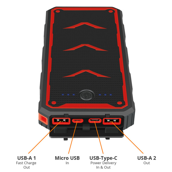 Fontastic Solar-Powerbank XORA, mit 20.000 mAh und Power Delivery