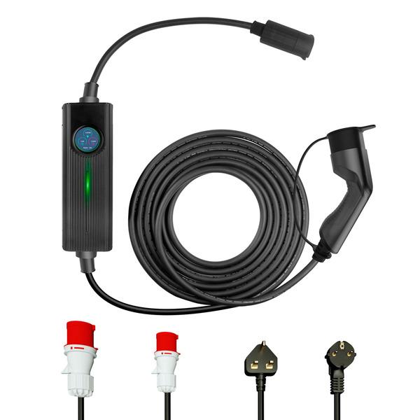 Em2Go EV-Ladeeinheit EM016CC mit max. 16 kW, Ready2Plug, inkl. Typ-2-Ladekabel (6 m), 3-Phasig