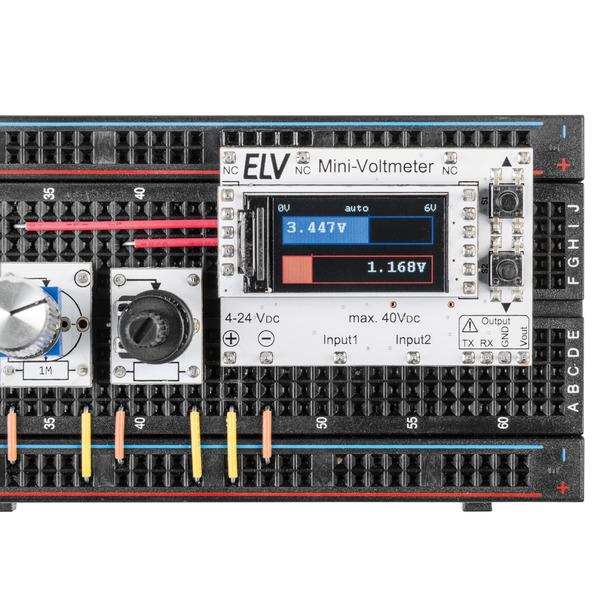 Genau, praktisch, schick - 2-fach-Mini-Voltmeter mit TFT-Display MVM1