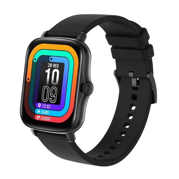 """FontaFit Smartwatch 480CH """"TALIS"""", schwarz, mit Blutsauerstoffmessung und Schlafüberwachung, IP67"""