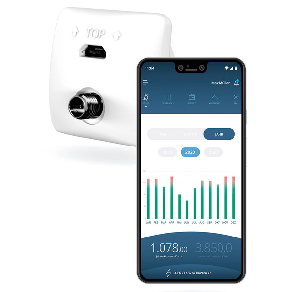 Leser-testen den WLAN-Stromzählerausleser poweropti PA201901, inkl. Smartphone-App