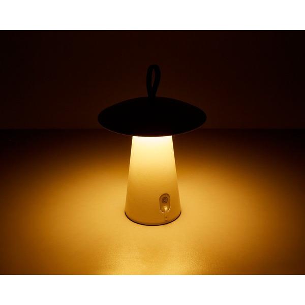 HEITRONIC 2-W-Akku-LED-Tischleuchte Mushroom, weiß, IP54, bis 80 h Leuchtdauer