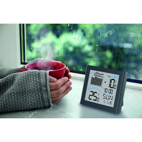 hama Funk-Regenmesser RAINY mit Basisstation, Niederschlagsmenge, Temperatur, Luftfeuchte, 433 MHz