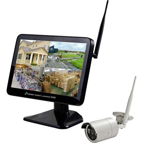 stabo Funk-Kamerasystem smart i_control NVR, 2,4 GHz, App (iOS & Android), Full-HD (1080p)