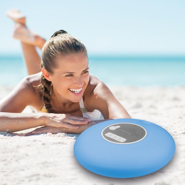 Fontastic Bluetooth-Lautsprecher Nepto, schwimmfähig, mit LED-Beleuchtung, IP67