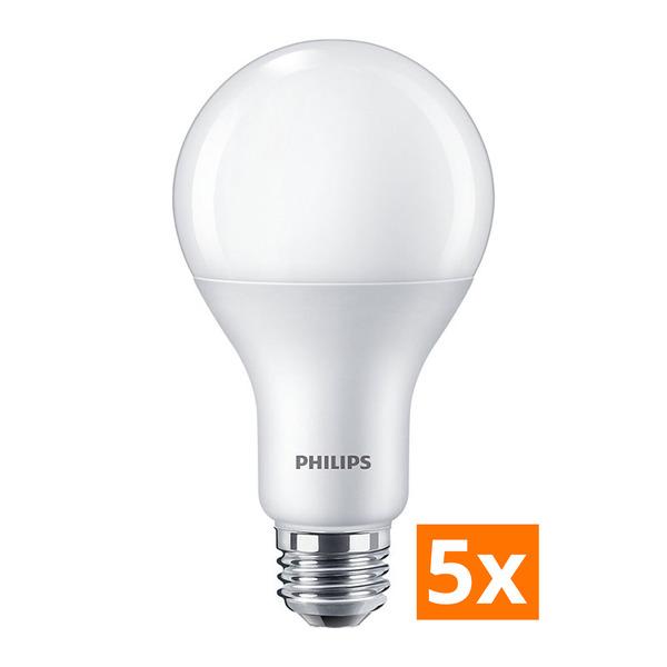 Philips 5er-Spar-Set 16-W-LED-Lampe CorePro LEDbulb, E27, 1521 lm, dimmbar, warmweiß