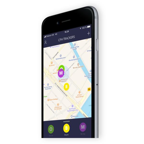 Copenhagen GPS-Tracker COBBLESTONE, ohne Abonnement und monatliche Gebühren, 4400-mAh-Akku, IP67