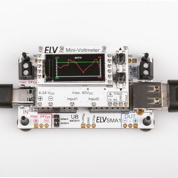 Praktisches Doppel - Strommessadapter für Mini-Voltmeter SMA1