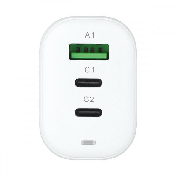 Fontastic USB-Schnell-Reiselader GaNto 65 W, weiß, Fast Charge und Power Delivery