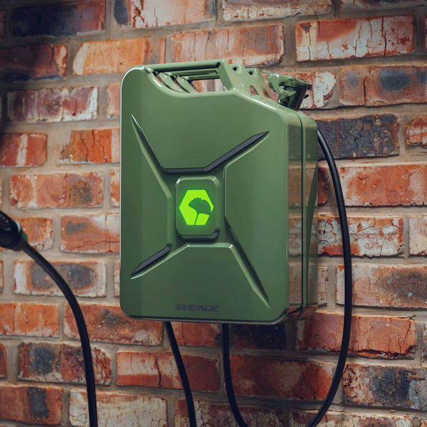 Renz Wallbox POWER2CAR FUEL olive, 3,7 - 11 kW, 5-m-Kabel, förderfähig