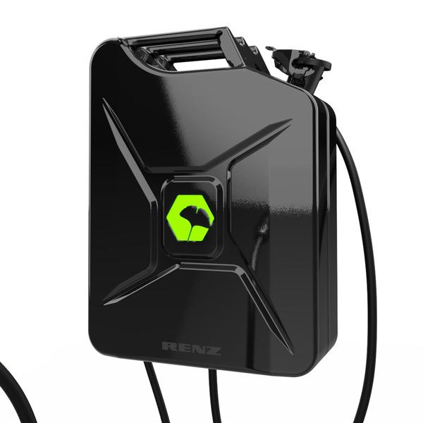 Renz Wallbox POWER2CAR FUEL schwarz, 3,7 - 11 kW, 5-m-Kabel, förderfähig