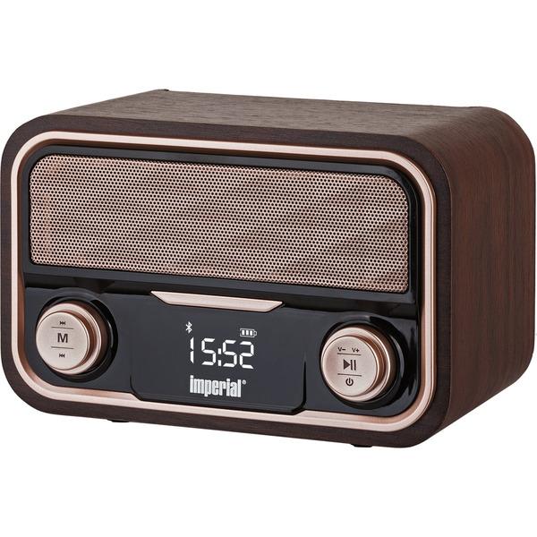 Imperial Nostalgie-Stereo-Lautsprecher / Radio BEATSMAN RETRO, UKW, Bluetooth, Akku