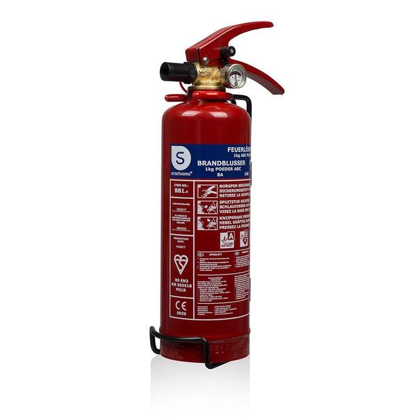 Smartwares Pulver-Feuerlöscher SW BB1, Brandklasse ABC, 1 kg