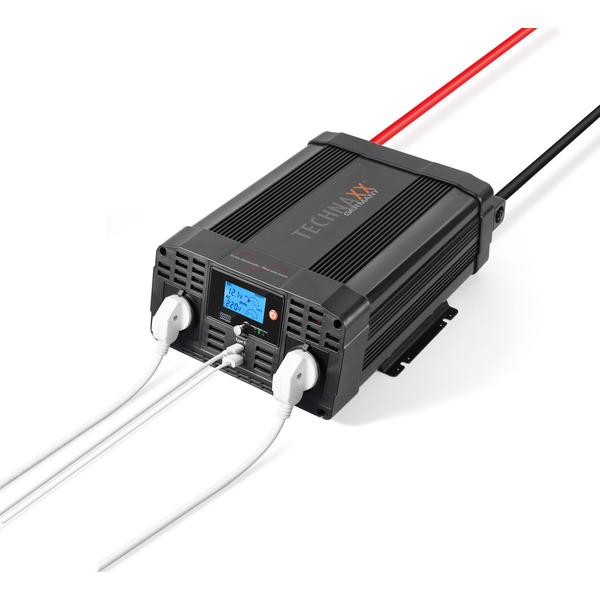 Technaxx Wechselrichter TE22 mit 2000 W für einen 12-V-Anschluss