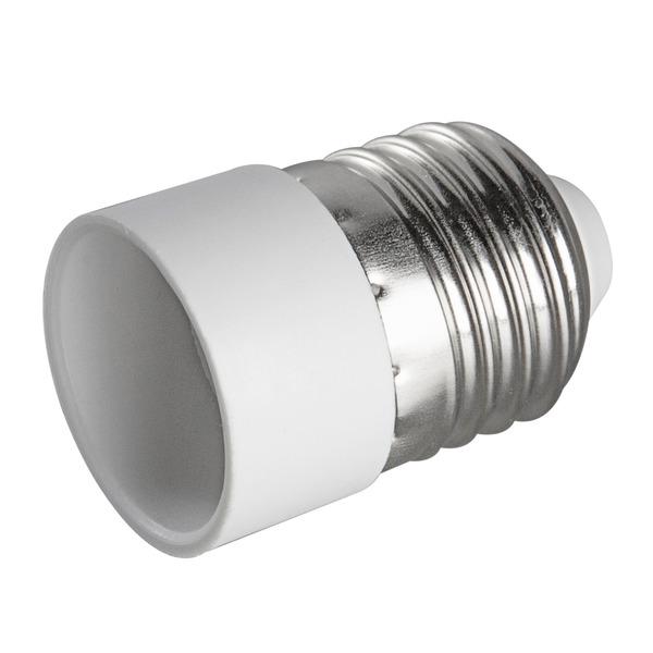 HEITRONIC Lampensockeladapter Kunststoff, E27 auf E14, max. 60W