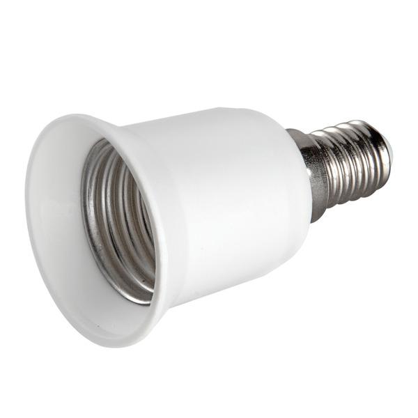 HEITRONIC Lampensockeladapter Kunststoff, E14 auf E27, max. 60W