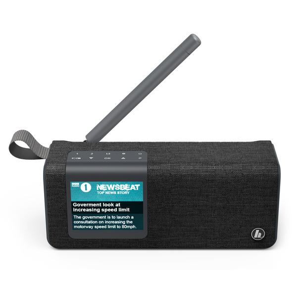 hama Portables Digitalradio DR200BT BLACK-Edition, UKW/DAB+, Akkubetrieb, Bluetooth-Lautsprecher