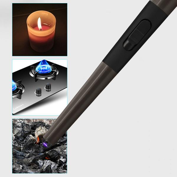 inolight Lichtbogen-Stabfeuerzeug CL3, integrierte Sicherheitsabschaltung, Akku, Metallgehäuse