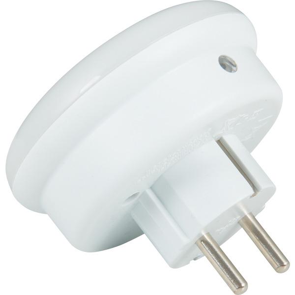 HEITRONIC LED-Nachtlicht / LED-Orientierungslicht mit Zwischenstecker, integr. Dämmerungssensor