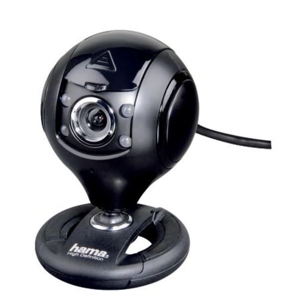 hama HD-Webcam Spy Protect, mit Kugelgelenk, Kamera-Schutzverdeck, 720p, 30 fps