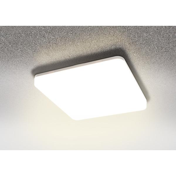 HEITRONIC 18-W-LED-Wand-/Deckenleuchte Pronto mit Bajonett-Anschluss, eckig, warmweiß, IP54